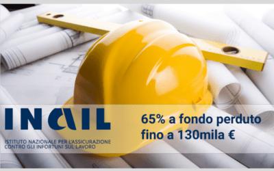 BANDO INAIL 2021: macchinari, attrezzature, impianti, rimozione amianto fino a 130.000 € a fondo perduto